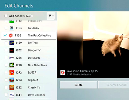 shaw cable remove channels from guide