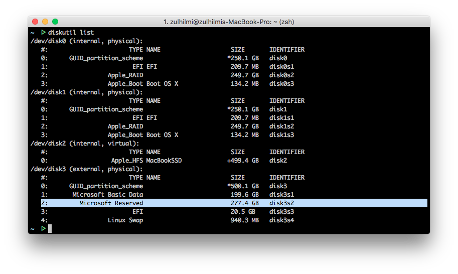 guid partition map vs apple