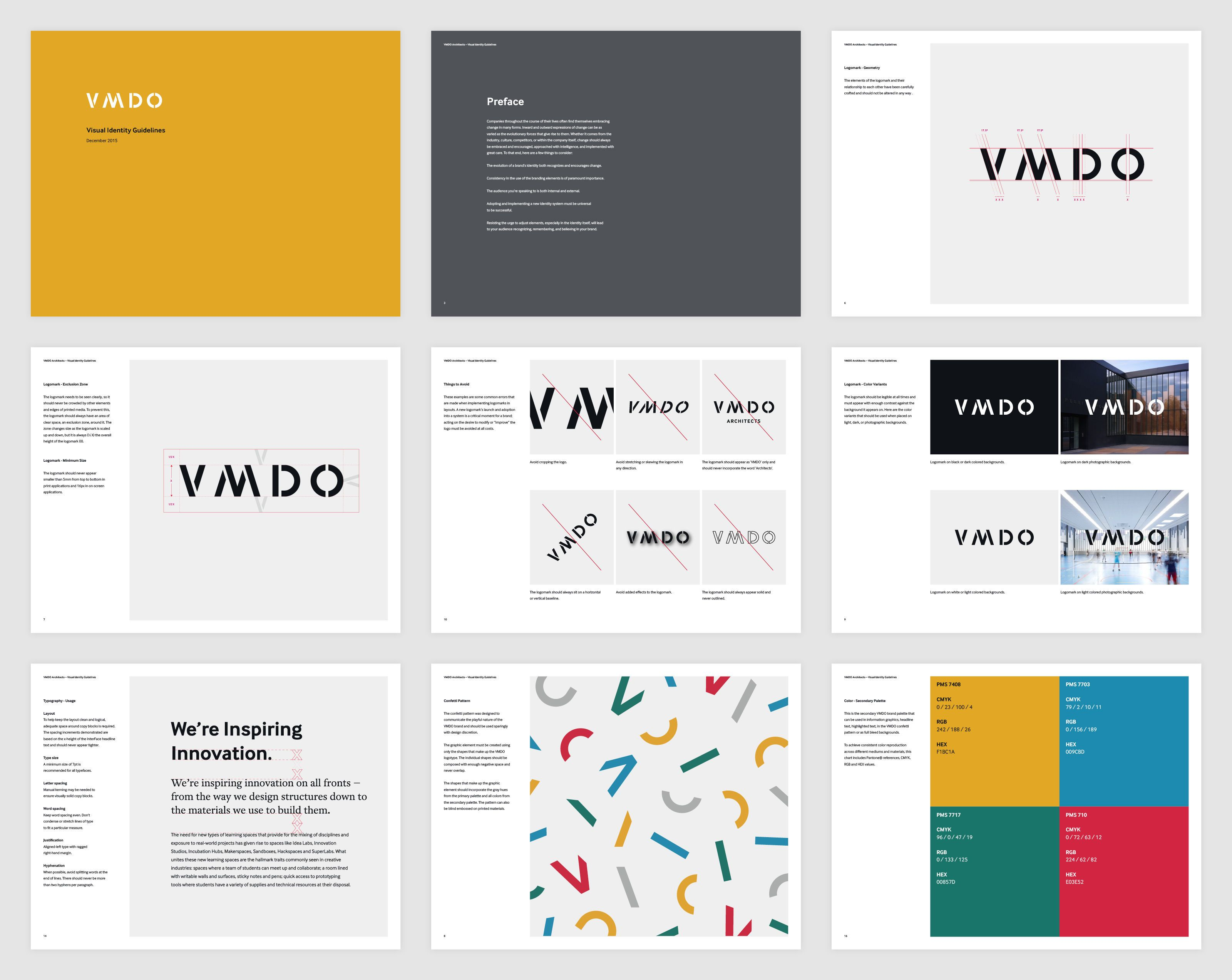 brand style guide for page layouts