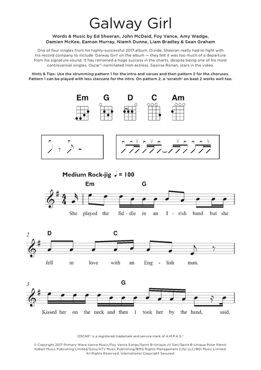 on the loose girl guide sheet music